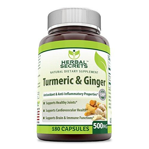 Herbal Secrets Turmeric & Ginger 500 Mg 180 Capsules