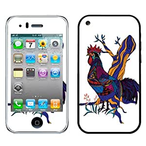 Fincibo (TM) Apple iPhone 3G Accessories Skin Vinyl Decal Sticker - Rooster