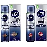 Nivea Men Body Deodorizer Sprint & Intense 120ml each