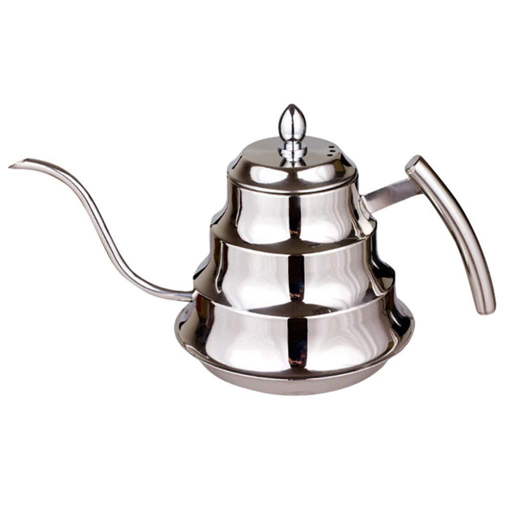Acquisto 1.2L in Acciaio Inox a Collo di Cigno caffettiera a Gettare caffè bollitore con Filtro a Mano a Goccia caffettiera tè percolatore teiera Prezzi offerta