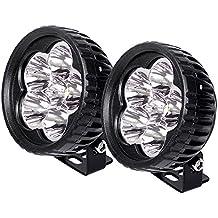 "JAHURD LED Light Bar 18W Spot, 2 PCS 4"" Inch Round Work Light Bars Spot Lamp LED Pods Driving Fog Lights for Off-road,4WD, Truck, Car, ATV, SUV, Motocycle,Boat -Waterproof IP67"