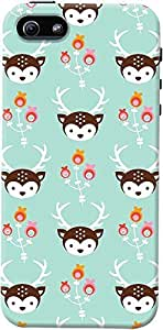 DailyObjects Blossom Deer Case For iPhone 5/5S Green