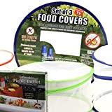 Collapsible Pop-up Mesh Food Covers Set & Inflatable Picnic Buffet Server - Tabletop Cooler and mesh Net Covers Are the Perfect Solution for Outdoor Parties!