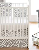 New Arrivals 2 Piece Crib Bed Set, Safari in Gray