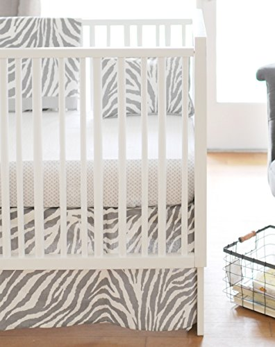 New Arrivals 2 Piece Crib Bed Set, Safari in Gray by New Arrivals (Image #1)
