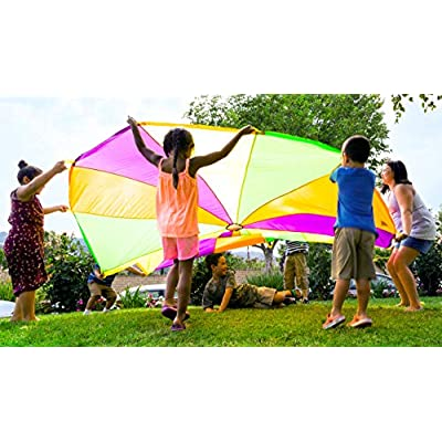 Pacific Play Tents 18000 Playchute 10' Parachute - Multicolor: Toys & Games