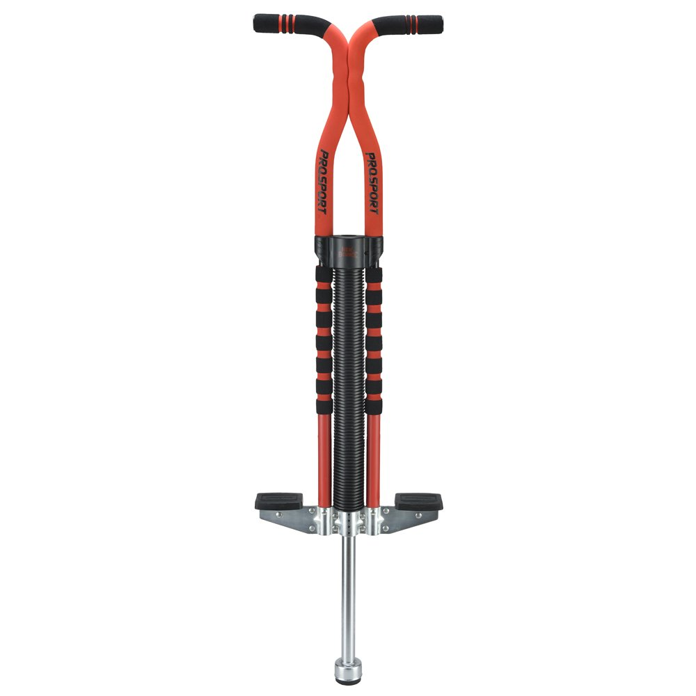 New Bounce Soft, Easy Grip Pro Sport Pogo Stick for Ages 9 and up (Black & Red) by New Bounce