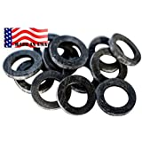 Garden Hose Heavy Duty Rubber Washer 12 pack MADE IN USA High Quality used by Aero Space & Aircraft mfg OK washing machine hot water & outdoor garden hose temp -45