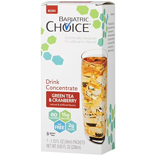 - Bariatric Choice Low-Carb Liquid Protein Fruit Drink Concentrate - Green Tea & Cranberry Drink Mix To Enhance Water (7 Count)