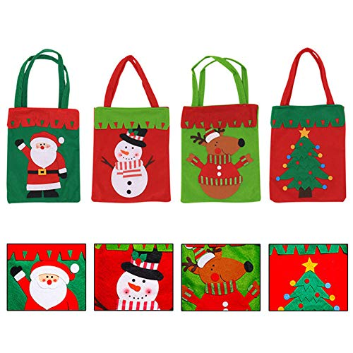 YaptheS Christmas Candy Bags Small Handbag Gift Treat Goodie Tote Bag for Kids Children Home Decorations Shopping (Santa Claus) Christmas Gift by YaptheS (Image #2)