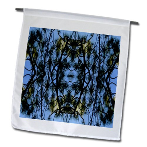 Jos Fauxtographee Abstract - Lacy Tree Vines on a Azure Blue Sky - 18 x 27 inch Garden Flag (fl_39160_2)