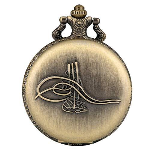 ZJZ Fickur musikinstrument design retro brons kvarts fickur souvenir hänge halsband klocka
