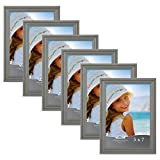 Icona Bay 5x7 Picture Frames (6 Pack), Gray Frame