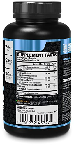 ANDROSURGE Estrogen Blocker for Men Natural Anti Estrogen, Testosterone Booster & Aromatase Inhibitor Supplement Boost Muscle Growth & Fat Loss DIM & 6 More Powerful Ingredients, 60 Veggie Pills