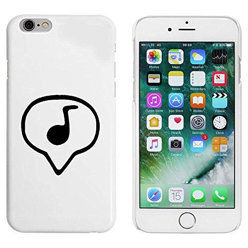Weiß 'Musiknote' Hülle für iPhone 6 u. 6s (MC00087175)