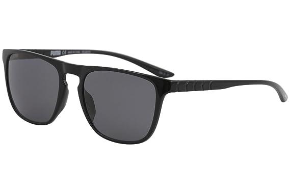 Puma PU0131S 001 Gafas de Sol, Negro (001-Black/Grey), 54 ...