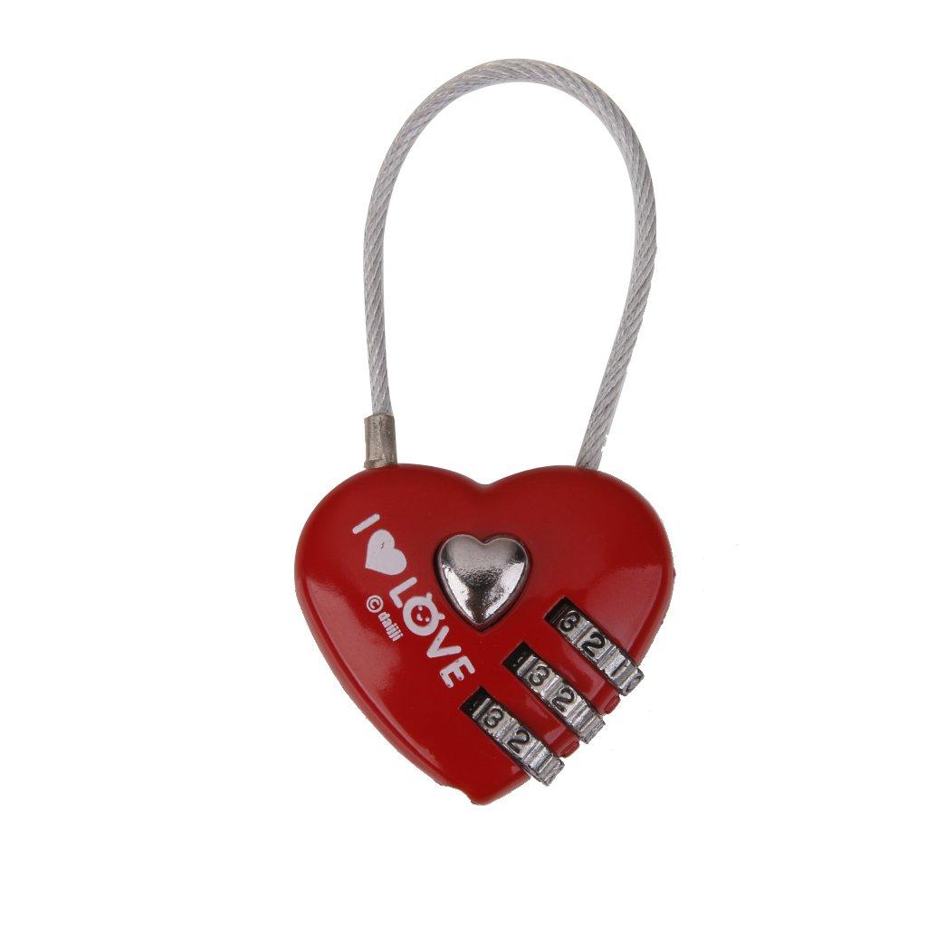 candado con combinacion en forma de corazon