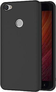 AICEK Funda Xiaomi Redmi Note 5A Prime, Negro Silicona Fundas ...