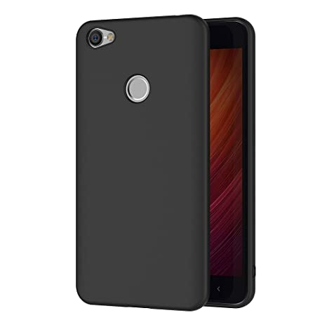 AICEK Funda Xiaomi Redmi Note 5A Prime, Negro Silicona Fundas para Redmi Note 5A Prime Carcasa Redmi Note 5A Prime Negro Silicona Funda Case (5,5 ...