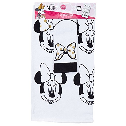Jay Franco Disney Minnie Mouse Diva Bathroom Towels and Washcloth Set