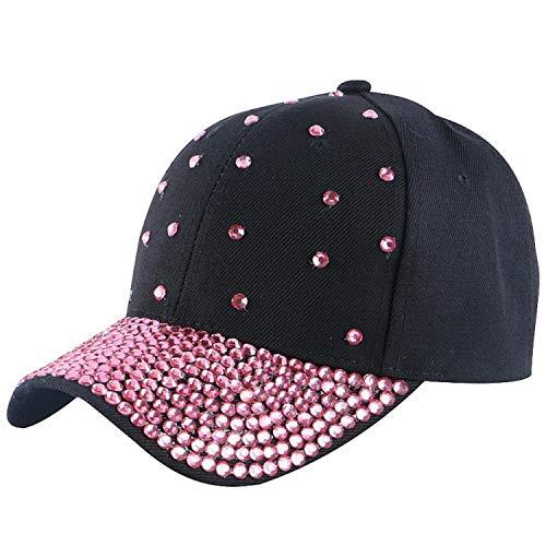 レディース 野球帽子 女性 カジュアル キャップ,ブラックキャップ,サイズ55-60 cm,15歳から成人まで