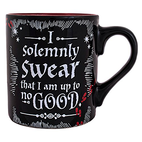 (Silver Buffalo HP3032 Harry Potter Up To No Good Ceramic Mug, 14 oz,)