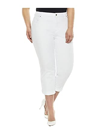 41454a7e97752 Image Unavailable. Image not available for. Color  SIMPLY EMMA Women s Plus  Skinny Ankle Cropped Jeans ...