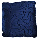 Bone Dry DII Medium Pet Pllow Blanket for Dogs and Cats, 50x60, Warm, Soft and Plush for Couch, Car, Trunk, Cage, Kennel, Dog House-Navy