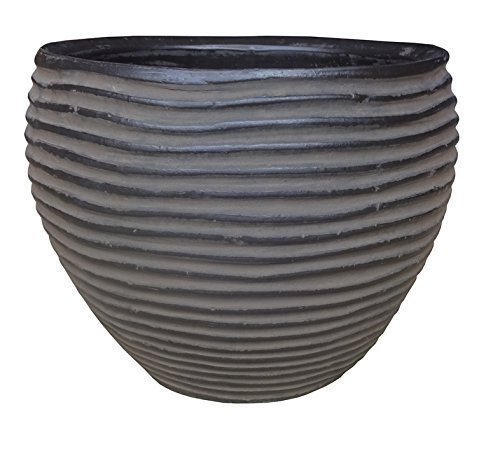 Zen Garden Simple Lines Terracotta Planter, Pack of 2, Si...