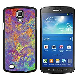 Jordan Colourful Shop - Abstract Hippie Purple Psychedelic For S4 Active I9295 (Do Not Fit S4) Custom black plastic Case Cover