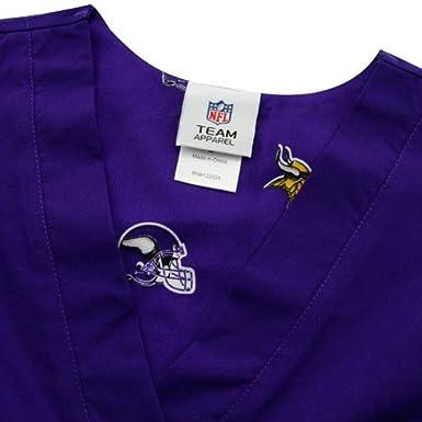 8645a0fd706 Amazon.com : NFL Scrub Dudz Solid Scrub Top : Clothing
