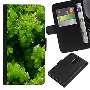 EJOY---La carpeta del tirón la caja de cuero de alta calidad de la PU Caso protector / LG G3 / --Spring Green Plant Summer Sun
