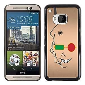 TopCaseStore / la caja del caucho duro de la cubierta de protección de la piel - Abstract Face - HTC One M9