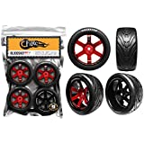 FireBrand RC • BLOODSHOT-RT(9) • On-road Race Treads, ROCKET-RED/BLACK