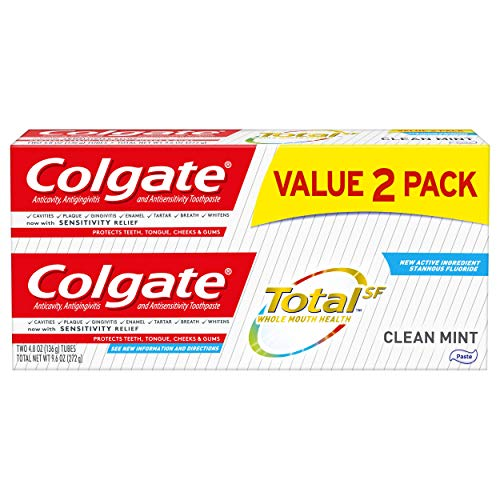(Colgate Total Toothpaste, Clean Mint - 4.8 ounce, 2 pack)