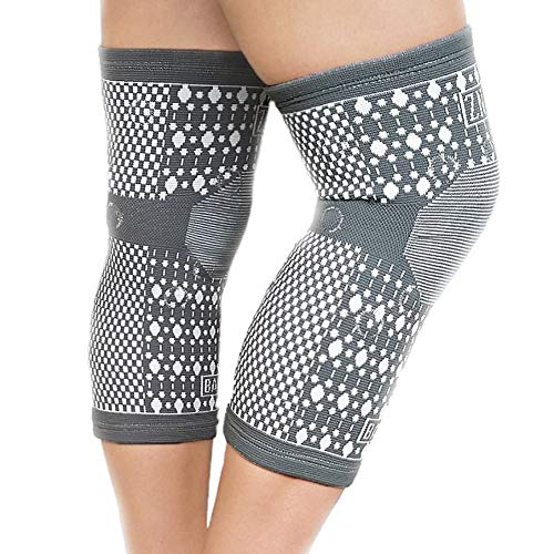 Knee Support Sleeve, Premium for Men and Women, Tourmaline Infused High Quality Compression Magnetic Therapy for Pain, Injury, Arthritis, One Pair