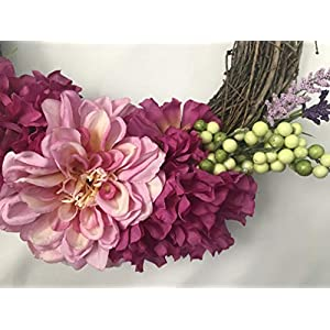 Peony Grapevine Wreath 3