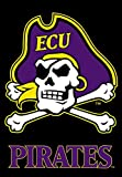 NCAA East Carolina Pirates 2-Sided 28-by-40 inch House Banner ECU with Black Background with  Pole Sleeve Review