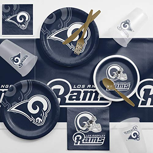 Creative Converting Los Angeles Rams Game Day Party Supplies Kit