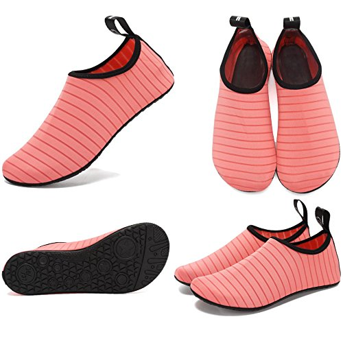 CIOR Leichte Aqua Socken Quick-Dry Wasser Schuhe Mutifunctional Barfuß Für Strand Pool Surf Yoga Übung Rosa