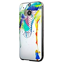 HTC One M8 Case, Cruzerlite Print Cases (PC Case) Compatible with HTC All New One (M8) 2014 - Archan Nair Azalia