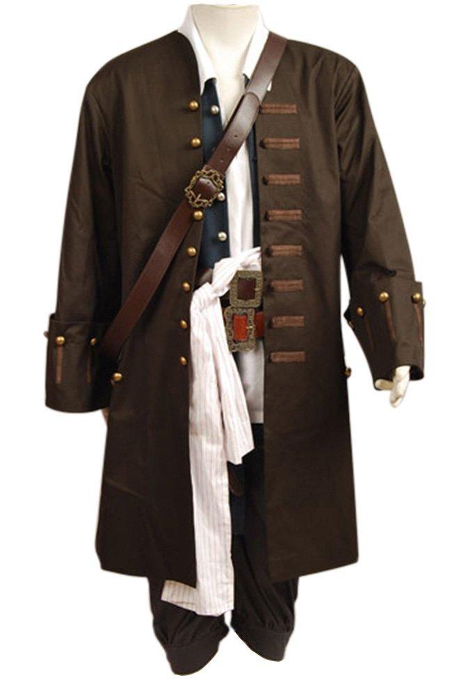 Pirates Of The Caribbean Jack Sparrow Cosplay Kostüm Jacke Weste Gurt Hemd Hose Set Herren XXL B01GL4CVIC Kostüme für Erwachsene Niedriger Preis und gute Qualität     | Up-to-date Styling