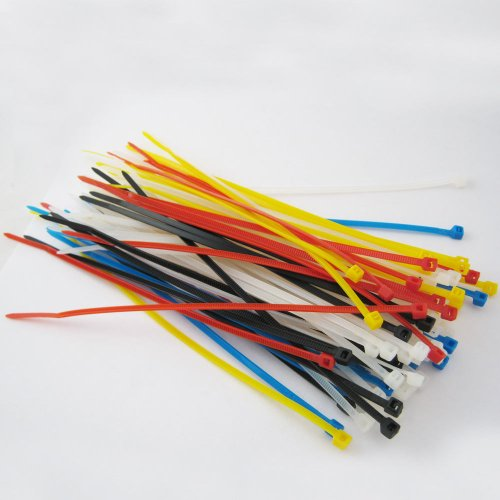 "Lot Of 500 New 6"" Inch Multi Color Nylon Cable Wire Zip Ties"