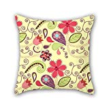 PILLO flower pillow shams 20 x 20 inches / 50 by 50 cm gift or decor for teens girls,car,kids,husband,bedroom,kids room - twin sides