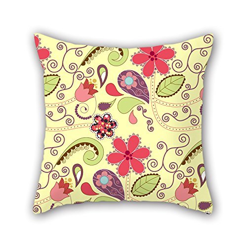 NICEPLW Cushion Cases Of Flower 16 X 16 Inches / 40 By 40 Cm,best Fit For Kids,son,couples,home Office,lover,dining Room Two Sides