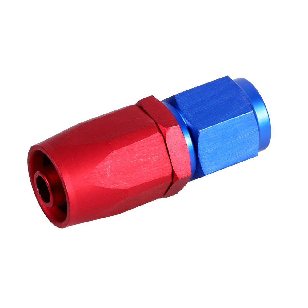 Qiilu QL00601 AN6 Racing Oil//Fuel Line Raccordo per estremit/à girevole Raccordo maschio blu Colore rosso AN6-0/°