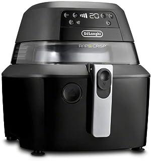 De'Longhi Rapid Crisp Air Fryer, 5-Quart, 1700-Watt XL Cooker, Fries, Crisps, Roasts, Bakes, 5 Preset Functions, Pizza Setting up to 20% Faster Cooking, Easy Clean Nonstick, 360° Viewing, FH2394