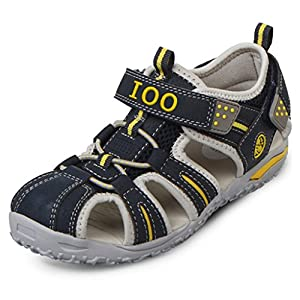 IOO Summer Beach Outdoor Closed-Toe Sandals For Boys and Girls 11 M Little Kid Navy Blue New 28