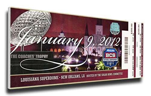 (NCAA Alabama Crimson Tide 2012 BCS Championship Game Mega Ticket)