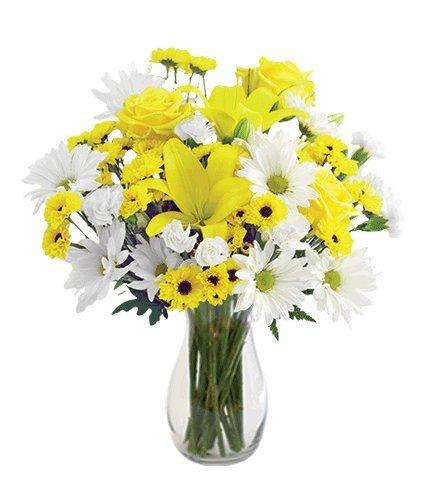Delightful Sunshine with Vase